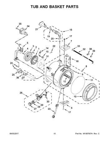Diagram for WFW87HEDC1