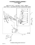 Diagram for 04 - W10096909 Burner Assembly