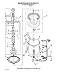 Diagram for 03 - Basket And Tub Parts