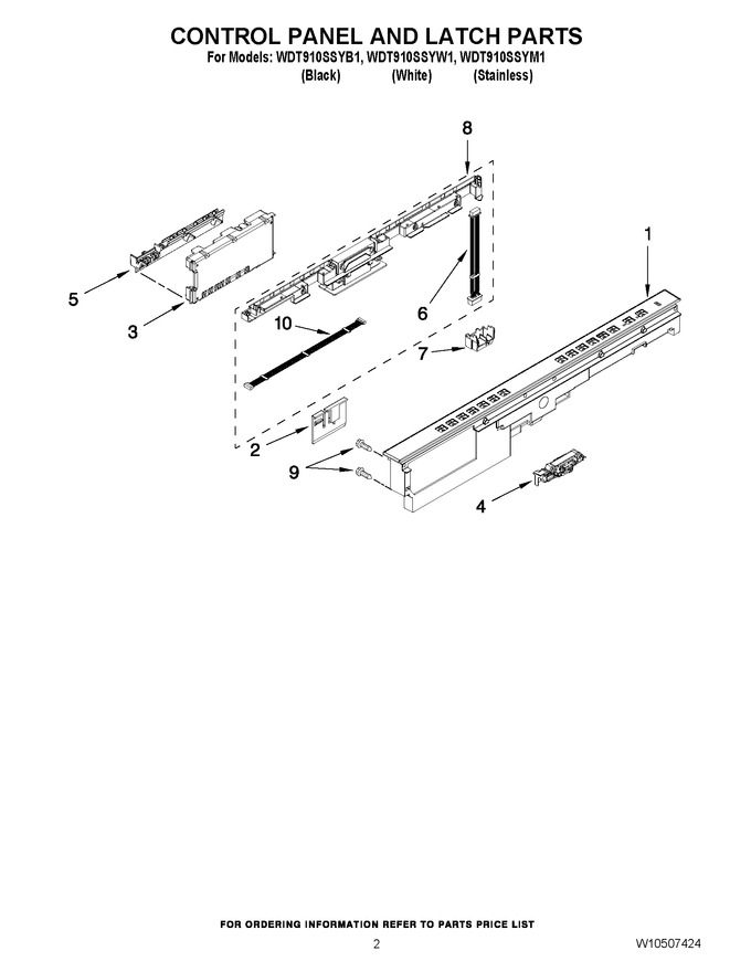 Diagram for WDT910SSYW1