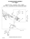 Diagram for 04 - W10495626 Burner Assembly