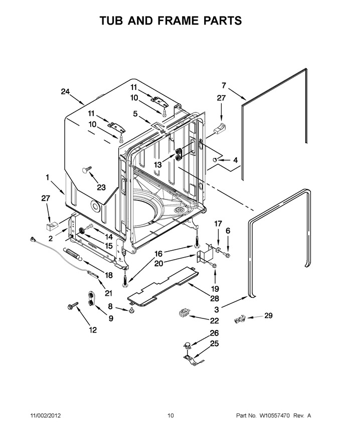 Diagram for KUDE40FXWH6