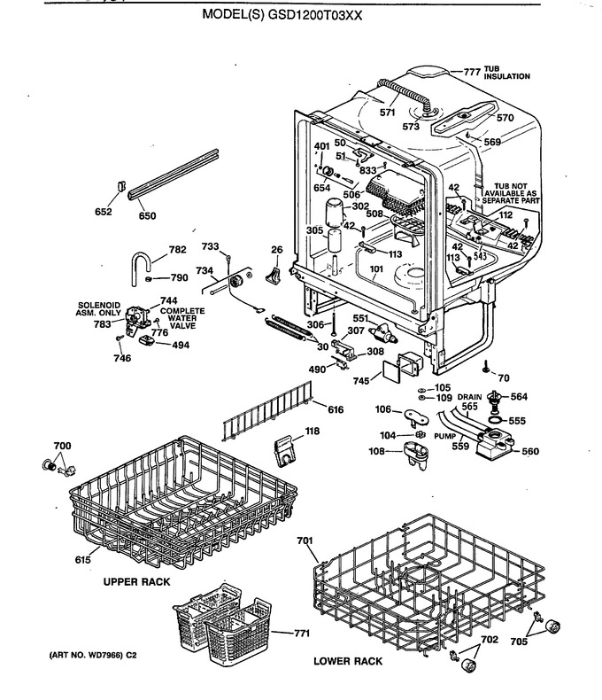 Diagram for GSD1200T03XX