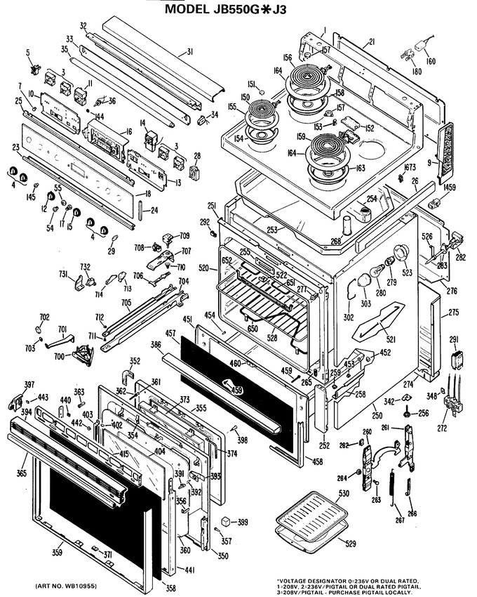 Diagram for JB550G*J3