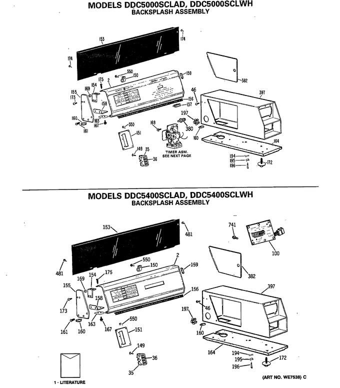Diagram for DDC5400SCLAD