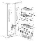Diagram for 4 - Freezer Shelves