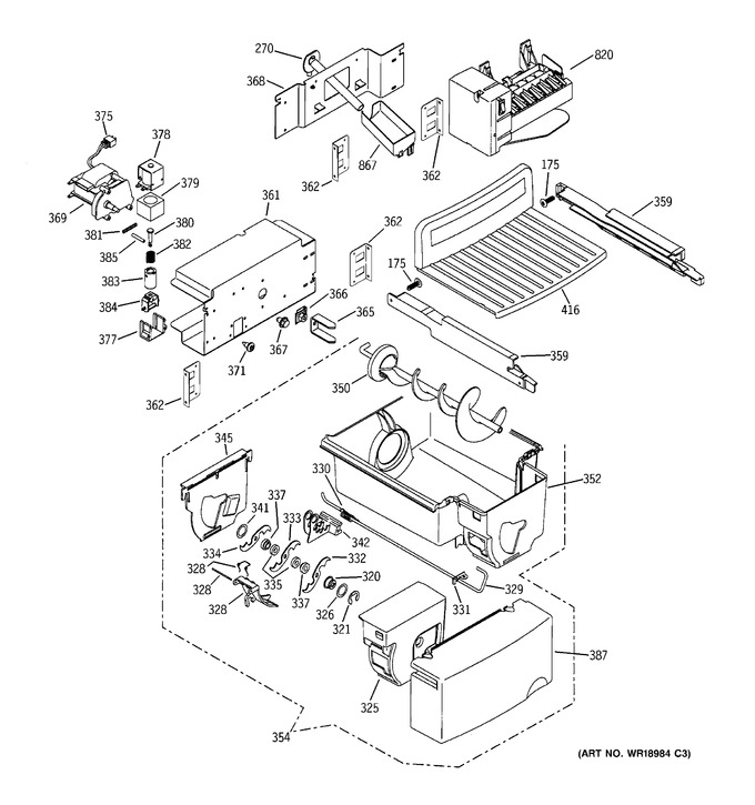 GE ZFSB26DNASS Parts | Reliable Parts | Ge Ice Maker Dispenser Wiring Schematic |  | Reliable Parts