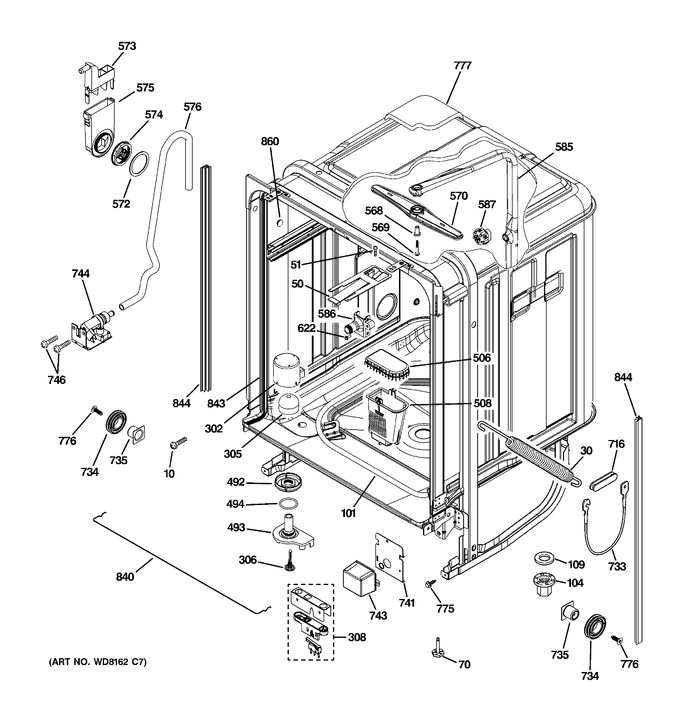Diagram for PDW9280J03SS