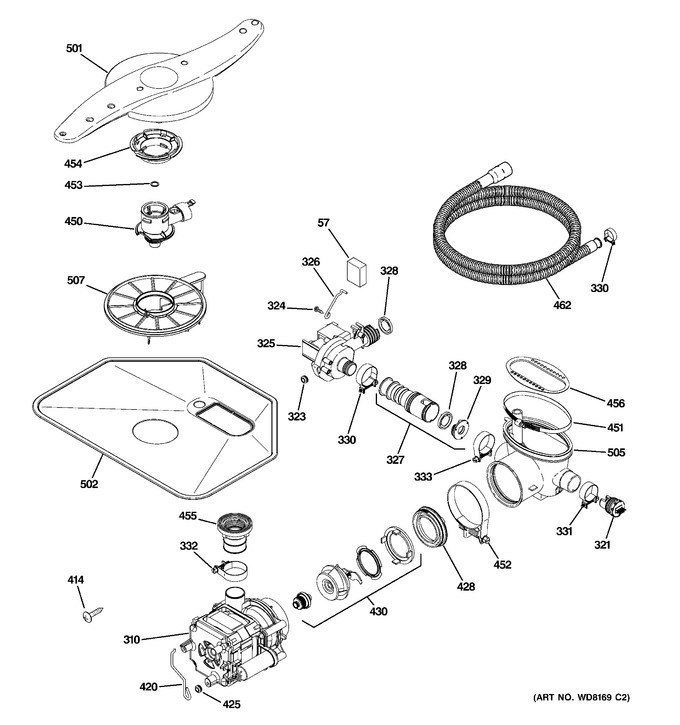 Diagram for PDW8612J10WW