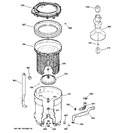 Diagram for 3 - Tub, Basket & Agitator