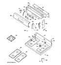 Diagram for 2 - Control Panel & Cooktop