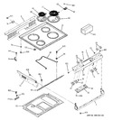 Diagram for 1 - Control Panel & Cooktop