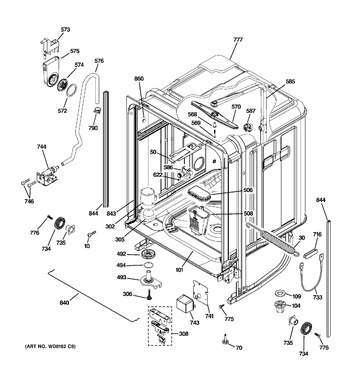 Diagram for PDW8400N00BB