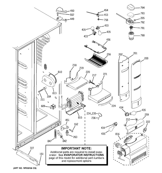 Diagram for PCF23PGWCWW