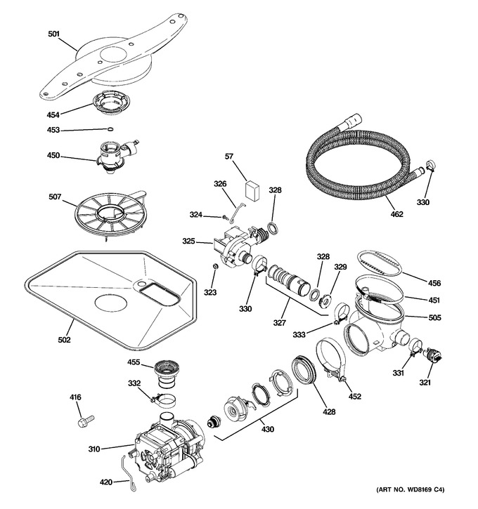 Diagram for PDW8600N20CC