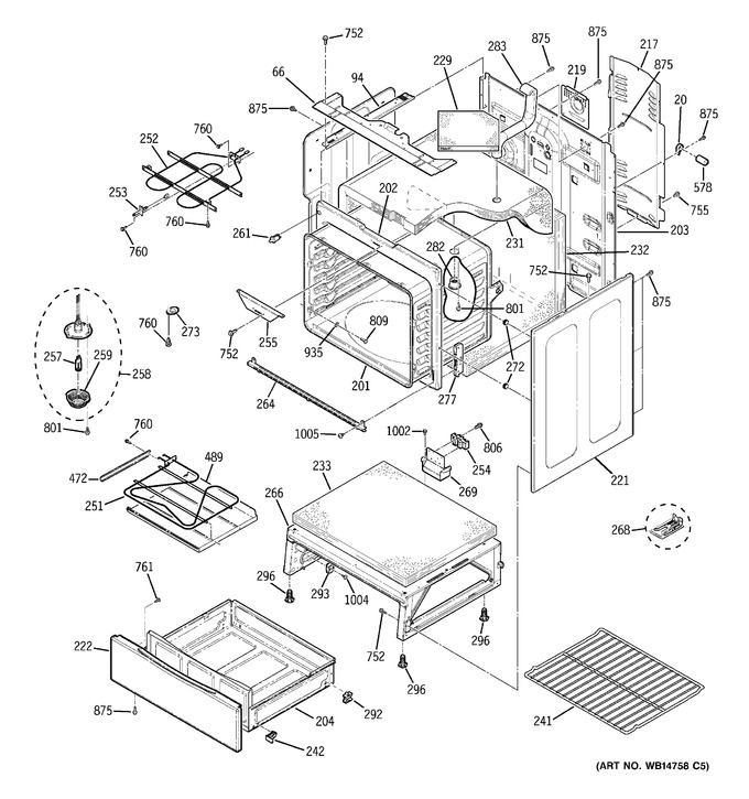 Diagram for JB740SP2SS
