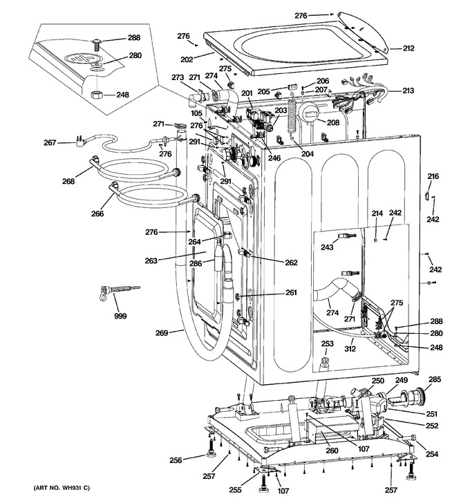 Diagram for GFWN1000L1WW