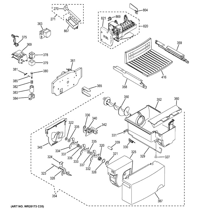 GE GSH25JSDE SS Parts | Reliable Parts | Ge Ice Maker Dispenser Wiring Schematic |  | Reliable Parts