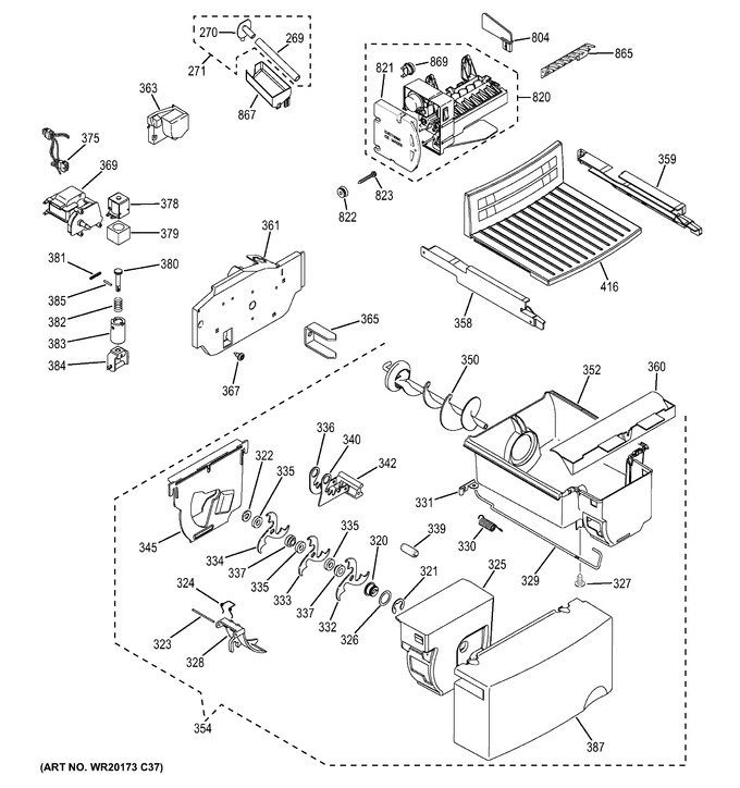 GE GSE22ETHB BB Parts | Reliable Parts | Ge Ice Maker Dispenser Wiring Schematic |  | Reliable Parts