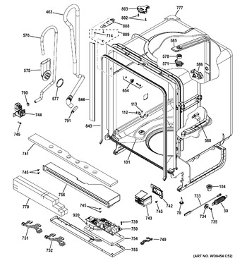 Diagram for GDT545PSJ2SS