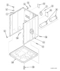 Diagram for Cabinet, Exhaust Duct And Base