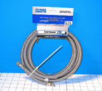 Stainless Steel Ice Maker Supply Line,  8' 1/4""