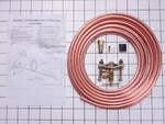 """Copper Water Supply Line Kit, 25' 1/4"""""""