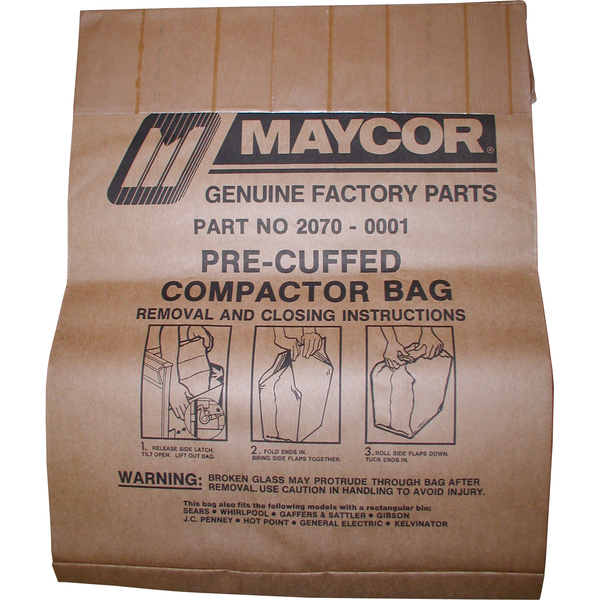 w10165295rp whirlpool 15 trash compactor bags 15 pk reliable parts rh reliableparts com