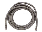 "Stainless Steel Refrigerator Ice Maker Supply Line, 15' Long 1/4"" Tubing"
