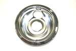 "GE General Electric Hotpoint Sears Kenmore Range Stove Cook Top 6"" DRIP BOWL CHROME REAR BUBBLE"