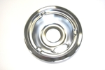 "GE General Electric Hotpoint Sears Kenmore Range Stove Cook Top 6"" DRIP BOWL CHROME WITH 2 INDENTS"