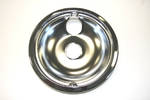 "GE General Electric Hotpoint Sears Kenmore Range Stove Cook Top 8"" DRIP BOWL CHROME REAR BUBBLE"