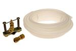 "1/4"" x 25' Refrigerator Ice Maker Install Polyethylene Tubing Kit W/Piercing Valve and 1/4"" Brass Union"
