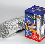 Clothes Dryer Aluminum Flexible Foil Ducting 4 in. X 5 foot by Dundas Jafine