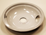 "Frigidaire Electrolux Kelvinator Westinghouse Tappan O'keefe and Merritt Sears Kenmore Oven Range Cook Top 8"" Drip Bowl Gray Porcelain With Rear Clip"