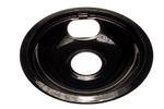 Range Cook Top Universal Replacement Drip Bowl Black Porcelain 8""