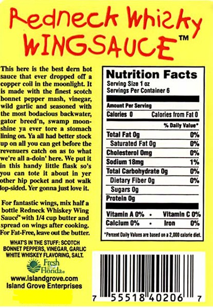 40206 7 Redneck Whiskey Wing Sauce 6 Oz Reliable Parts