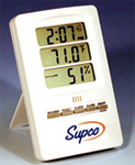 Supco STAND UP THERMO-HYGROMETER WITH CLOCK