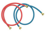 5' Commercial Grade Washing Machine Clothes Washer - Red and Blue Washer Fill Hoses, 2 Pack by Whirlpool Maytag