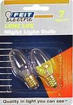 FEIT ELECTRIC BP7C7 C7 INCANDESCENT CLEAR NIGHT LIGHT 7 WATT - 2 Pack
