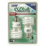 Feit Electric Lamp Light Bulb 13 Watt T2 MINI TWIST 60W - 2 Pack