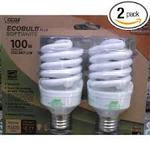Feit Electric Lamp Light Bulb 23 Watt T2 MINI TWIST 100W - 2 Pack