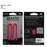 "Nite-Ize 6"" GEAR TIE - RED 2PK"
