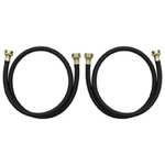Clothes Washer Washing Machine 4 Foot Black Rubber Fill Hose Kit - 2 Pack By Whirlpool Maytag