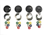 Universal Fit Electric Range Stove Cooktop Top Burner Knob Kit - Black